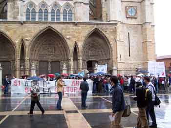 Protest infront of the Cathedral
